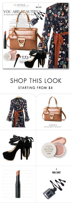 """""""Date Night Style with Floral Chiffon"""" by lip-balm ❤ liked on Polyvore featuring chuu"""