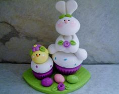 Bunny - Chick - Cupcakes - Easter Eggs - Polymer Clay - Easter - Figurine
