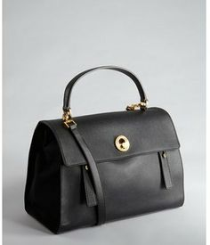 Yves Saint Laurent black pebbled leather and canvas 'Muse Two' convertible bag on shopstyle.com