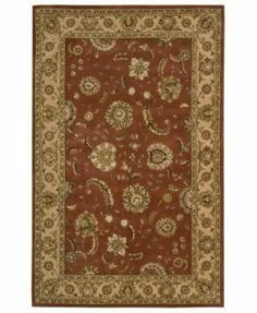 """Nourison - Nourison 2000 - 2227 Area Rug - 8'6"""" x 11'6"""" - Persimmon by Nourison. $2499.00. Nourisons most popular hand-made signature collection features Persian and European designs of pure New Zealand wool, highlighted with intricately detailed designs of genuine pure silk. Offered in a wide assortment of shape and size options, including elegant rounds, high fashion ovals and rectangles - all, of course, in addition to a full assortment of standard room sizes and runners..."""