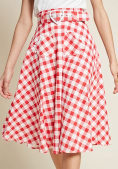 feb237b472f Collectif Hearty Supporter A-Line Gingham Skirt Teacher Appropriate  Outfits