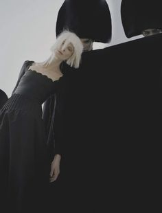 """kristen mcmenamy in """"black and roses"""" by tim walker for vogue italia, october 2012."""