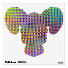 Psychedelia Ram Head Wall Decal