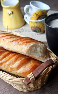 Pain viennois maison extra moelleux - Basic Homemade Bread Recipe - The healthiest bread to make? Biscuit Dough Recipes, Bread Dough Recipe, Baby Food Recipes, Gourmet Recipes, Sweet Recipes, Brioche Bread, Cuisine Diverse, Homemade Baby Foods, Russian Recipes