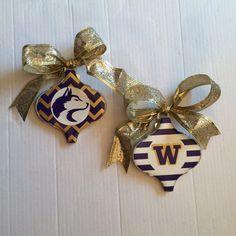U of W Huskie Ornaments