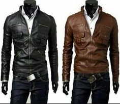 5f7a08bed Buy Synthetic Leather Men Jackets Casual Motorcycle Leather Coat Black  Brown Best Selling Wholesale Retail at Wish - Shopping Made Fun