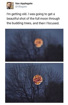 Ahh Burger King ... My moon