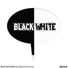 Black And White Cake Picks