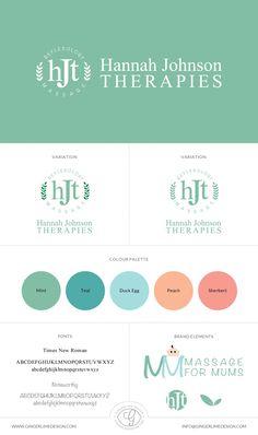 Hannah Johnson Therapies Branding by Gingerlime Design