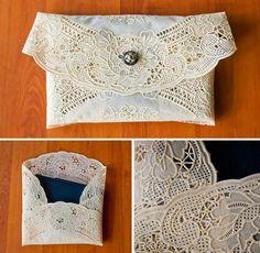 DIY  DOILY CRAFTS DIY CRAFTS : DIY: Doily Envelope