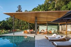 Delta House by Bernardes Arquitetura floating out onto sea lounge Brazil Houses, Delta House, Infinity Pool, Relax, House Viewing, Terrazzo Flooring, Modern Tropical, Lounge, Pergola Designs