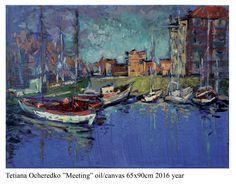 """Meeting"" oil/canvas 65x90cm 2016 year"