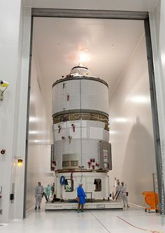 ATV-4 moves to S5B high-bay area #ESA #spacecraft
