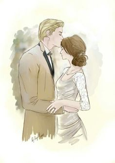 Draco and Alice in their wedding