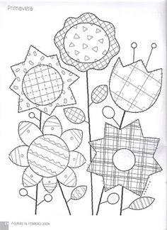 Art'sanália: Folk Art Wool Applique, Applique Patterns, Applique Quilts, Applique Designs, Quilt Patterns, Patch Quilt, Quilt Blocks, Crazy Quilting, Vintage Embroidery