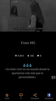 Q triste y q real Tumblr Quotes, Love Quotes, Wattpad, Quiet Girl, Lema, Sad Girl, Look In The Mirror, Spanish Quotes, Poetry Quotes