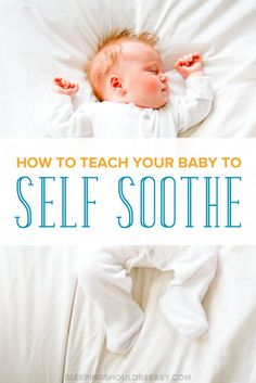 What do you do when your baby doesn't fall asleep on his own? Learn how to teach…