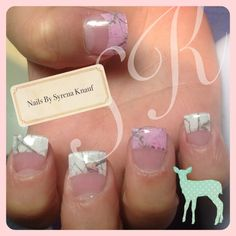 Pink and white camo nails, i like thes too.... so many cute choices!!