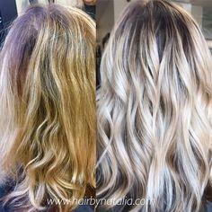 Blonde Balayage with smoky shadow root. #balayage #blondebalayage #shadowroot #shadowroots #balayagedenver #rootyblonde #denver #denverhair #denverhairsalon #denverhairstylist #balayagespecialist #blondespecialist #olaplex #thehospii #americansalon...