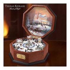 Thomas Kinkade Winter Music Box