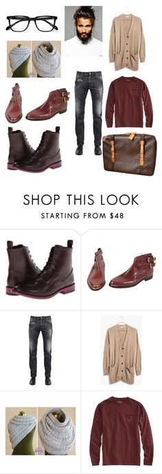 """""""Untitled #229"""" by mahlon ❤ liked on Polyvore featuring moda, Paul Smith, Versace, Dsquared2, Madewell, Vineyard Vines e Louis Vuitton"""