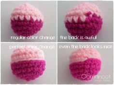 The Perfect Crochet Color Change - Tutorial step by step ✿Teresa Restegui http://www.pinterest.com/teretegui/✿