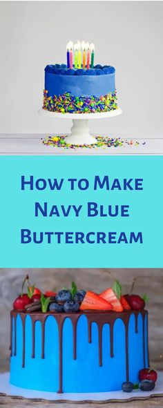 Looking for the perfect color to decorate your cupcakes? Wanting an easy way to dress up your frosting? How to make navy blue icing? Cake Icing Recipe Easy, Best Frosting Recipe, Cupcake Frosting, Buttercream Cake, Frosting Recipes, Icing Cupcakes, Blue Frosting, Frosting Colors, Blue Icing