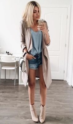 Slouchy trench coat.