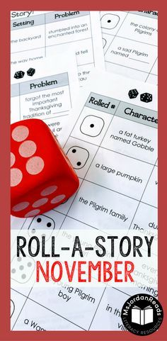 Story Starter Writing for November | Students will roll a dice to identify the characters, setting, and problem of their story. | Teachers or parents can this resource to motivate writers who never know what to write about or ones who have difficulty coming up with ideas. It's perfect for struggling writers in the classroom! (Gr. 2-4)