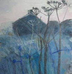 Cornwall Contemporary - Maggie Matthews Seascape Paintings, Landscape Paintings, Abstract Landscape, Abstract Art, Encaustic Art, Art Sketchbook, Plant Illustration, Painting Inspiration, Art History