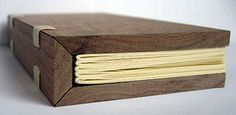Unique wooden journal. I need to learn how to treat wood for a journal cover.  #crafttuts+ #crafttutorials