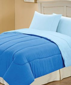 Marine Blue Microfiber Reversible Comforter By Chic Home