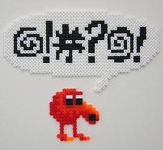 Q*Bert Perler Bead Sprite by Arcade Art