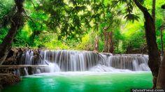 Green Tropical Waterfall - http://wallsfield.com/green-tropical-waterfall-hd-wallpapers/