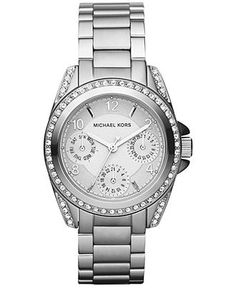 Michael Kors Watch, Women's Blair Stainless Steel...LOVE! WANT!