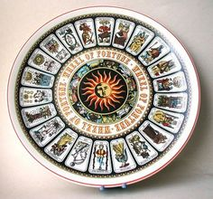 """Wedgwood Wheel Of Fortune """"Tarot Card"""" Decorative Wall Plate from Yesterdayshome on Etsy Wheel Of Fortune Tarot, Tarot Astrology, Fortune Telling, Palmistry, Oracle Cards, Tarot Decks, Wedgwood, Tarot Cards, Plates On Wall"""
