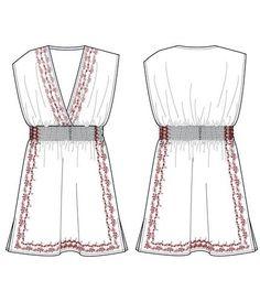 moda-tasarım-tekstil: @@@ ELBİSE TEKNİK ÇİZİM ÖRNEKLERİ @@@