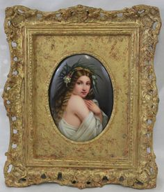 19 Century KPM German Hand Painted Porcelain Plaque Perfect Condition