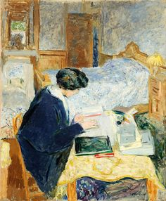 Edouard Vuillard, Lucy Hessel Reading (1913), oil on canvas, (Photo by The Jewish Museum