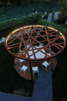 Popular of Round Pergola For Striking Garden Design and 117 Best Tensile Structure Images On Home Design Architecture 13896 is one of images of Outdoor con
