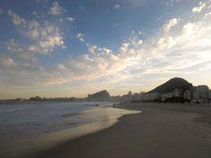 Copacabana Beach in the winter