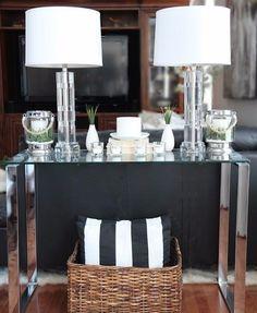 """NEW Ralph Lauren Lamp Crystal Table 28"""" Tall White Shade Farrah #RalphLauren #Contemporary"""