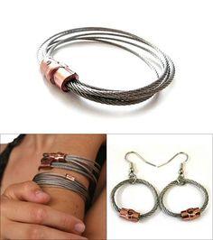 Guywire Jewelry; i like the bracelets