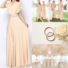 Photo: http://tinnainfinitydress.com/ Maxi infinity dress,bridesmaid dress, sand maxi bridesmaid dress.