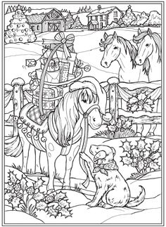 Colouring Pages, Adult Coloring Pages, Coloring Sheets, Free Coloring, Coloring Books, Dover Publications, Christmas Coloring Pages, Christmas Colors, Welcome