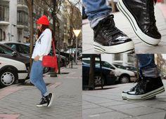 trendytalha.blogspot.com comparte sus #zapatillas MotuFashion negras! Converse Chuck Taylor High, Converse High, High Top Sneakers, Chuck Taylors High Top, High Tops, Fashion, Fashion Bloggers, Slippers, Black