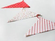 DIY FACILÍSIMO: como hacer unas banderolas de tela sin coser