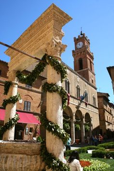 Pienza Square - The beautiful harmony of the perfect Renaissance square. #JetsetterCurator