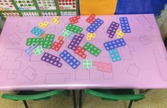 Numicon maths table - New Ideas Eyfs Curriculum, Maths Eyfs, Eyfs Classroom, Classroom Crafts, Preschool Activities, Numicon Activities, Nursery Activities, Numeracy, Maths Display