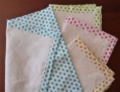 Self Binding Napkin Tutorial - no more burned fingers from folding and mitering!
